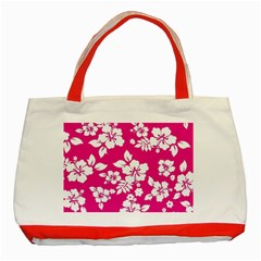 Pink Hawaiian Classic Tote Bag (red) by AlohaStore