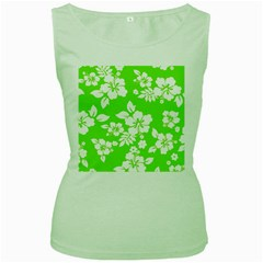 Lime Hawaiian Women s Green Tank Top by AlohaStore