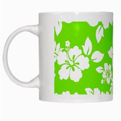 Lime Hawaiian White Mugs by AlohaStore