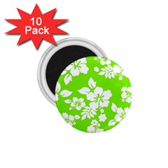 Lime Hawaiian 1 75  Magnets (10 Pack)  by AlohaStore