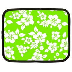 Lime Hawaiian Netbook Case (xxl)  by AlohaStore