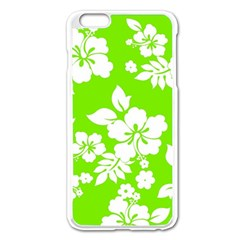 Lime Hawaiian Apple Iphone 6 Plus/6s Plus Enamel White Case by AlohaStore