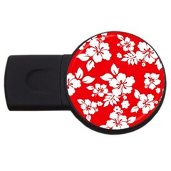 Red Hawaiian Usb Flash Drive Round (2 Gb)  by AlohaStore