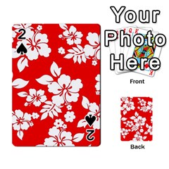 Red Hawaiian Playing Cards 54 Designs  by AlohaStore