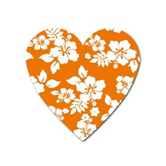 Orange Hawaiian Heart Magnet by AlohaStore