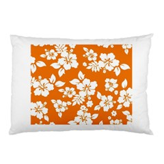 Orange Hawaiian Pillow Case (two Sides)