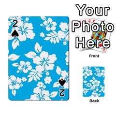 Light Blue Hawaiian Playing Cards 54 Designs  by AlohaStore
