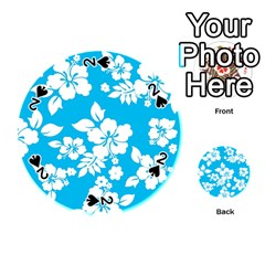 Light Blue Hawaiian Playing Cards 54 (round)  by AlohaStore