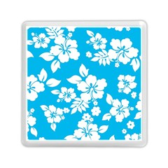 Light Blue Hawaiian Memory Card Reader (square)