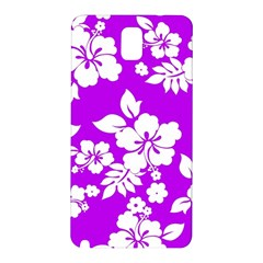 Purple Hawaiian Samsung Galaxy Note 3 N9005 Hardshell Back Case by AlohaStore