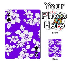 Violet Hawaiian Playing Cards 54 Designs  by AlohaStore