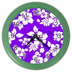 Violet Hawaiian Color Wall Clocks by AlohaStore