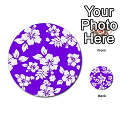 Violet Hawaiian Multi Purpose Cards (round)  by AlohaStore