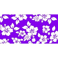 Violet Hawaiian You Are Invited 3d Greeting Card (8x4)