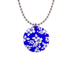 Deep Blue Hawaiian Button Necklaces by AlohaStore