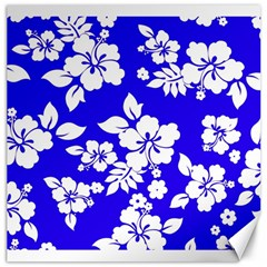 Deep Blue Hawaiian Canvas 16  X 16   by AlohaStore