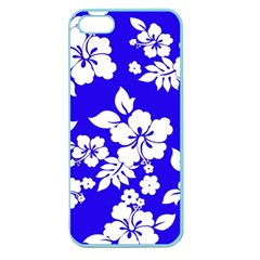Deep Blue Hawaiian Apple Seamless Iphone 5 Case (color) by AlohaStore
