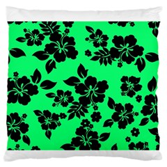 Dark Lime Hawaiian Standard Flano Cushion Case (one Side) by AlohaStore