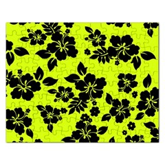 Dark Hawaiian Rectangular Jigsaw Puzzl by AlohaStore