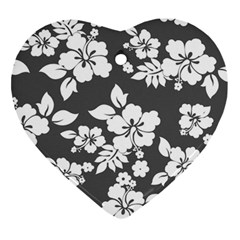 Gray Hawaiian Ornament (heart)