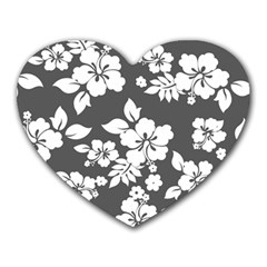 Gray Hawaiian Heart Mousepads by AlohaStore