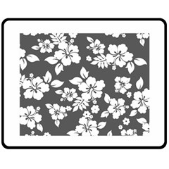 Gray Hawaiian Fleece Blanket (medium)