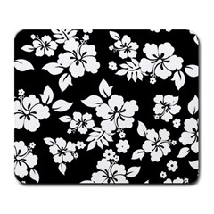 Black And White Hawaiian Large Mousepads by AlohaStore