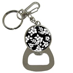 Black And White Hawaiian Bottle Opener Key Chains by AlohaStore