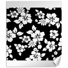Black And White Hawaiian Canvas 8  X 10  by AlohaStore