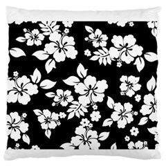 Black And White Hawaiian Standard Flano Cushion Case (two Sides) by AlohaStore