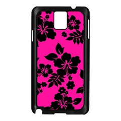 Dark Baby Pink Hawaiian Samsung Galaxy Note 3 N9005 Case (black) by AlohaStore