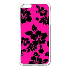 Dark Baby Pink Hawaiian Apple Iphone 6 Plus/6s Plus Enamel White Case by AlohaStore