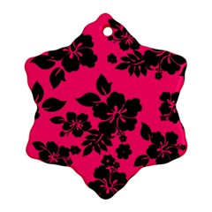 Dark Pink Hawaiian Ornament (snowflake)