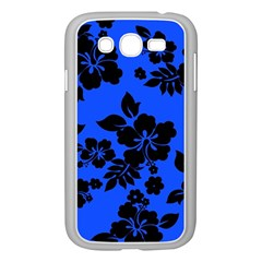Dark Blue Hawaiian Samsung Galaxy Grand Duos I9082 Case (white) by AlohaStore