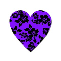 Violet Dark Hawaiian Heart Magnet by AlohaStore