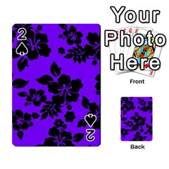 Violet Dark Hawaiian Playing Cards 54 Designs  by AlohaStore