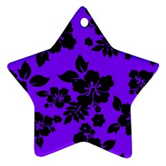 Violet Dark Hawaiian Star Ornament (two Sides)  by AlohaStore