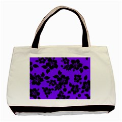 Violet Dark Hawaiian Basic Tote Bag (two Sides) by AlohaStore