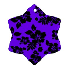Violet Dark Hawaiian Snowflake Ornament (2 Side) by AlohaStore