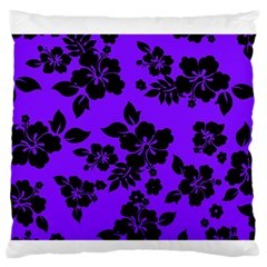 Violet Dark Hawaiian Standard Flano Cushion Case (one Side) by AlohaStore