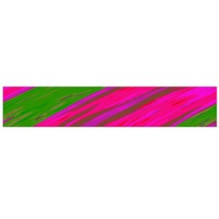 Swish Bright Pink Green Design Flano Scarf (large) by BrightVibesDesign