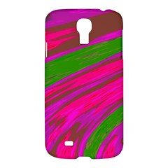 Swish Bright Pink Green Design Samsung Galaxy S4 I9500/i9505 Hardshell Case by BrightVibesDesign
