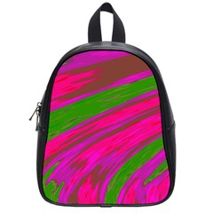 Swish Bright Pink Green Design School Bags (small)  by BrightVibesDesign