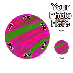 Swish Bright Pink Green Design Playing Cards 54 (round)  by BrightVibesDesign