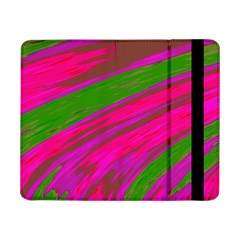 Swish Bright Pink Green Design Samsung Galaxy Tab Pro 8 4  Flip Case by BrightVibesDesign