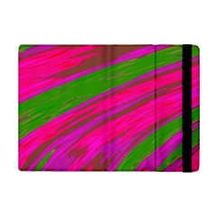 Swish Bright Pink Green Design Ipad Mini 2 Flip Cases by BrightVibesDesign