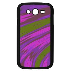Swish Purple Green Samsung Galaxy Grand Duos I9082 Case (black) by BrightVibesDesign