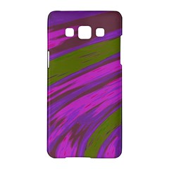 Swish Purple Green Samsung Galaxy A5 Hardshell Case  by BrightVibesDesign