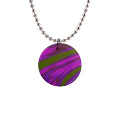 Swish Purple Green Button Necklaces by BrightVibesDesign