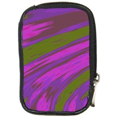 Swish Purple Green Compact Camera Cases by BrightVibesDesign